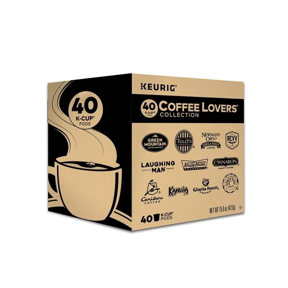 Amazon: 40 Count Keurig Coffee Lovers' Collection Variety Pack for ONLY $25.49