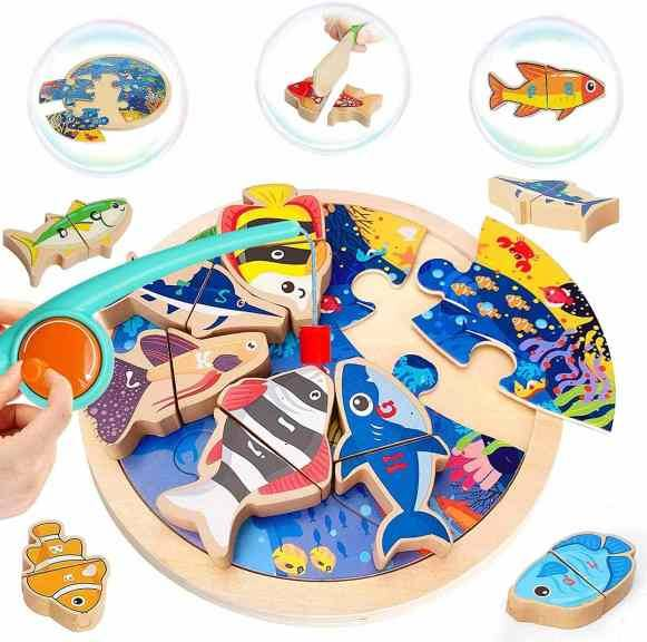Amazon: 3 in 1 Learning Alphabet Fishing Jigsaw Puzzle Game with Magnet Poles for only $9.49 (Reg: $18.99)