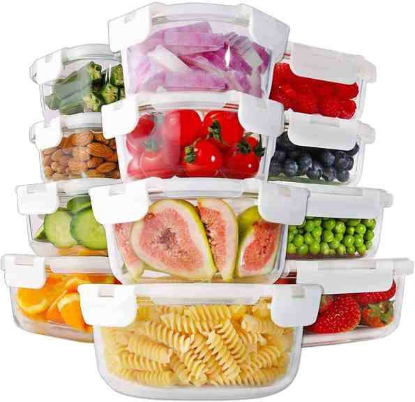 Amazon: 24 Piece Glass Food Storage Containers with Lids for only $24.99 (Reg: $49.99)