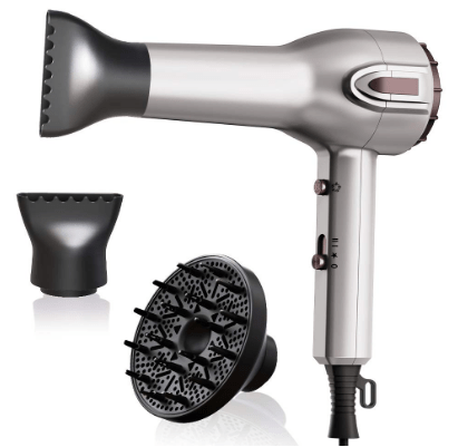 Amazon: Hair Dryer with Diffuser + 2 Concentrator Nozzles for ONLY $16.65 (Reg. $36.99)